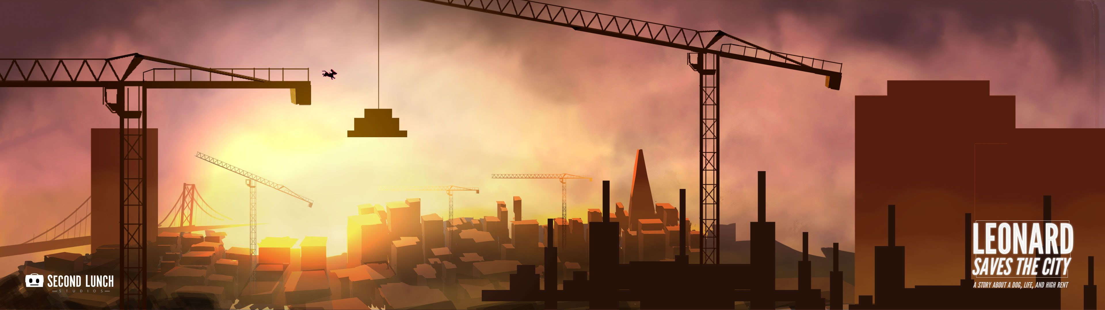 Crane Sunset Widescreen